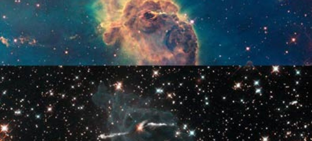 Hubble captura explosão estelar localizada a 3 800 anos-luz da Terra