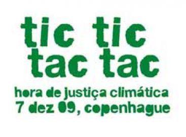 Campanha TicTacTicTac alerta para mudanças climáticas