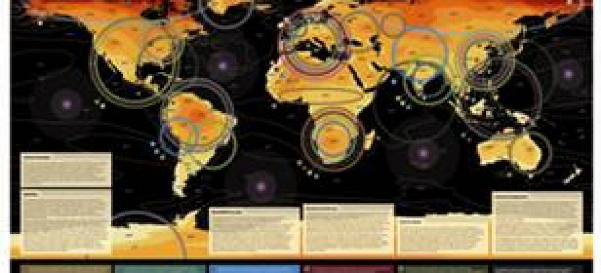 Mapa mostra impactos climáticos de um mundo 4°C mais quente