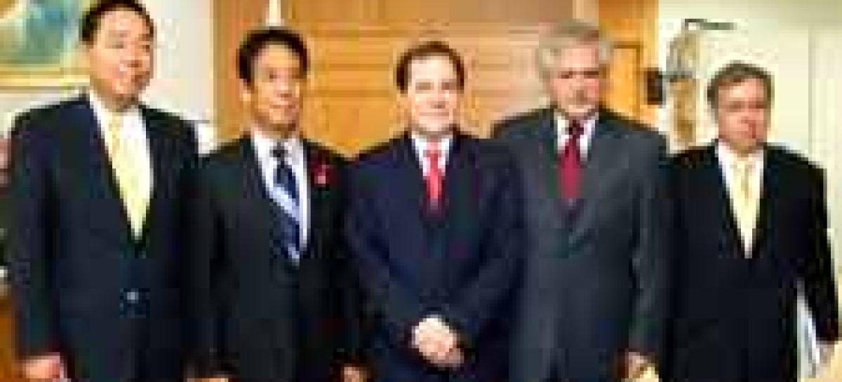 Ministro se reúne com autoridades japonesas