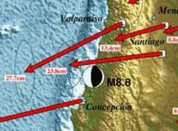 Terremoto desloca cidades