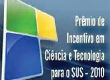 Inscrições para Prêmio de Incentivo em C&T para o SUS 2010 terminam no próximo dia 28