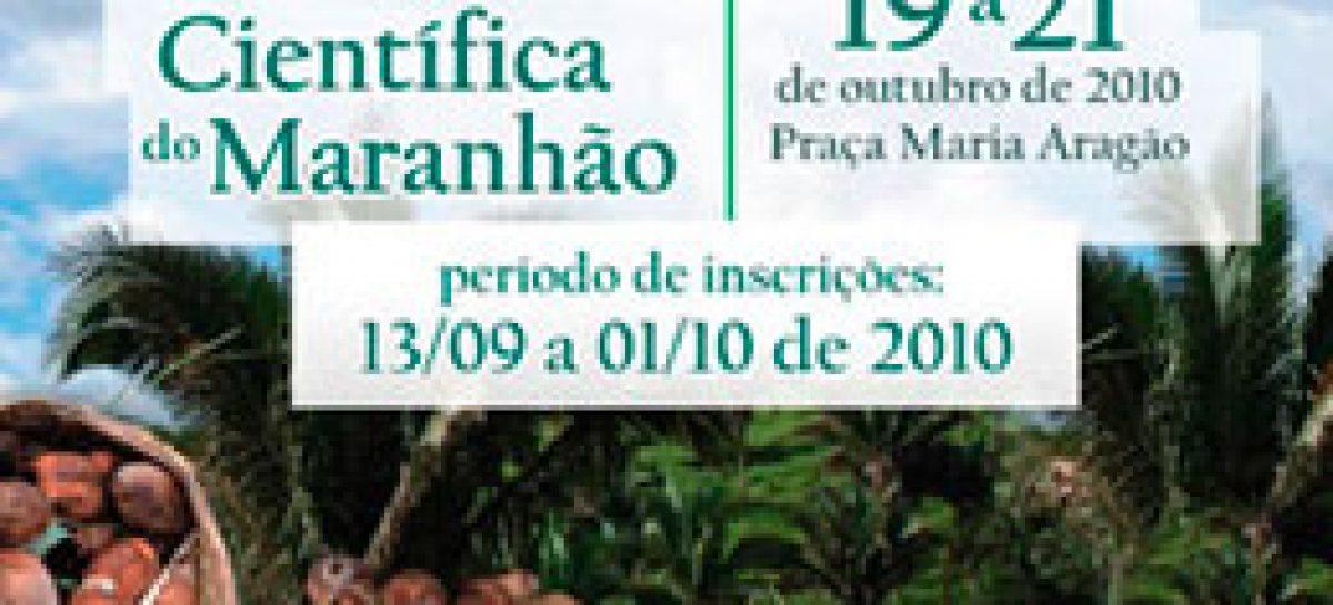 Inscrição para a I Mostra Científica do Maranhão termina quarta-feira, 06