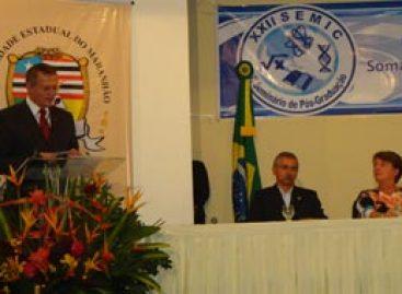 Diretora da Fapema  profere palestra na abertura do SEMIC promovido pela Uema