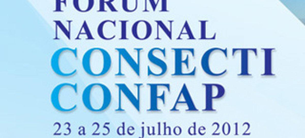 Fórum Nacional Consecti&Confap será aberto nesta segunda-feira