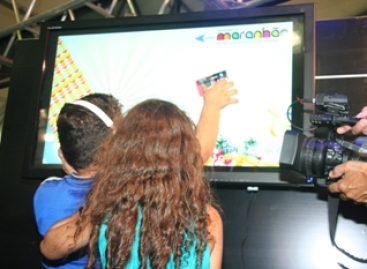 Interatividade marca stand do governo do Maranhão em evento da Expotec na SBPC