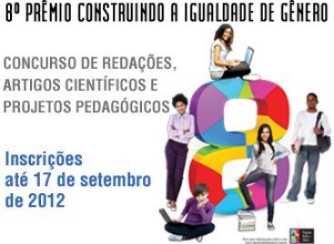 Inscrições para o 8º Prêmio Construindo Igualdade de Gênero terminam dia 17