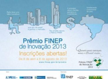Inscrições para o Prêmio FINEP de Inovação 2013 abrem dia 08