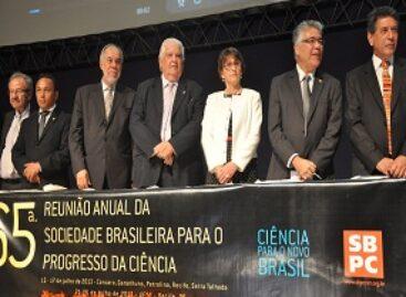 Novo marco regulatório para a Ciência brasileira é defendido na abertura da 65ª Reunião Anual da SBPC