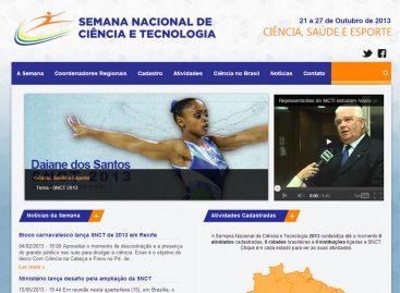 Site da Semana Nacional de Ciência e Tecnologia 2013 está no ar