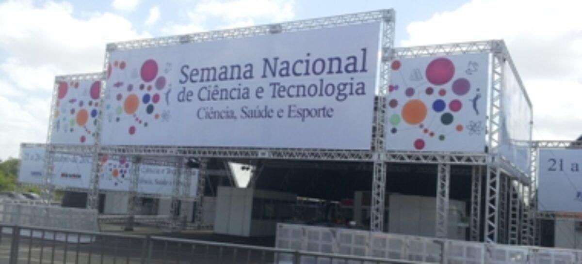 Semana de Ciência e Tecnologia será aberta nesta segunda-feira