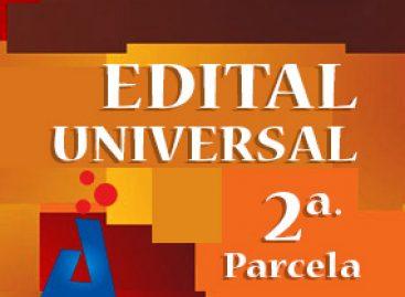Atenção: pagamento de 2ª parcela do edital Universal