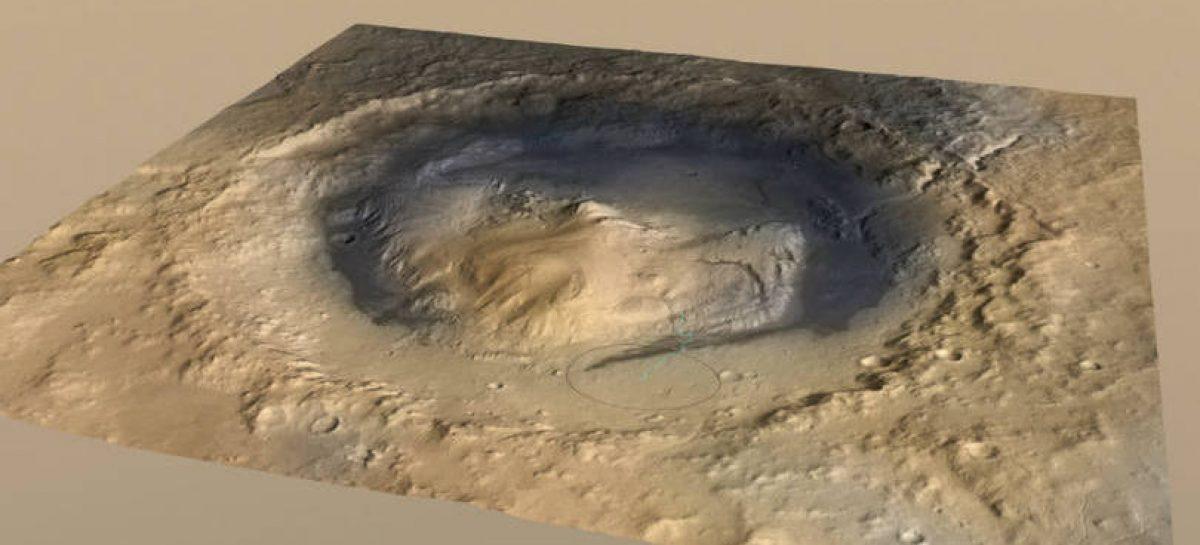 NASA descobre que cratera em Marte já foi um enorme lago