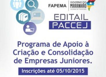 Edital da FAPEMA apoia criação e consolidação de Empresas Juniores