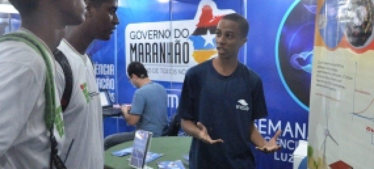 Programação do stand da Fapema na Semana Nacional de Ciência e Tecnologia