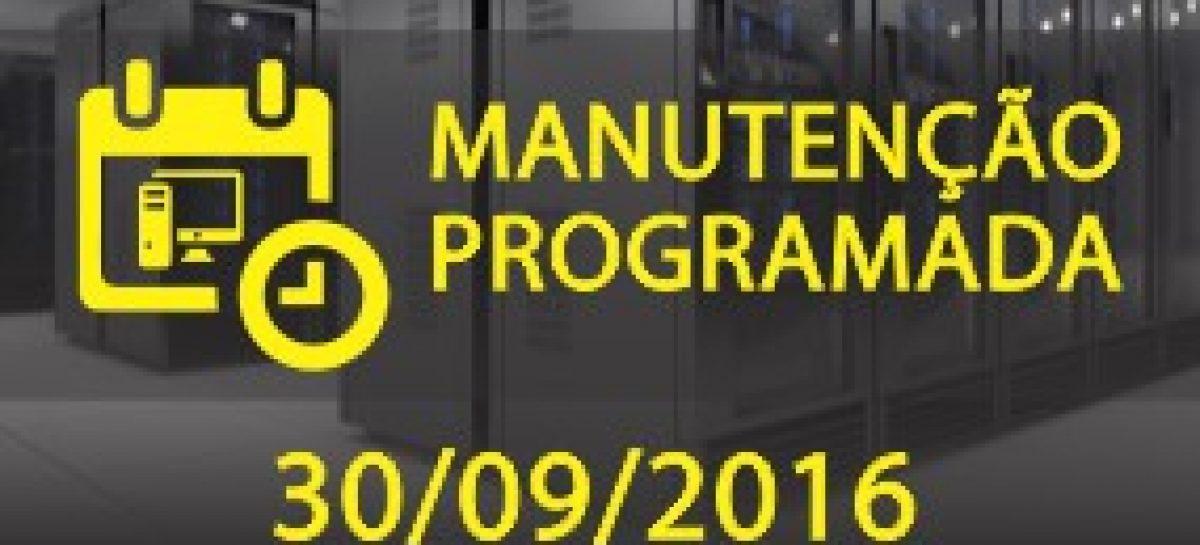 Aviso de Manutenção Programada em nossos Servidores