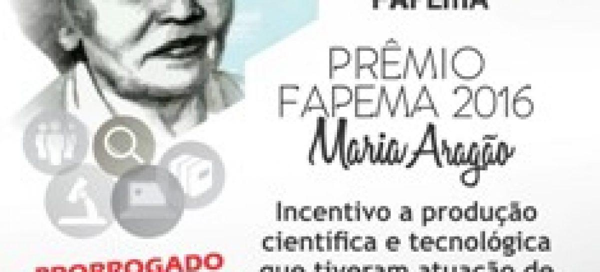 Prorrogadas as inscrições para o edital do Prêmio Fapema 2016