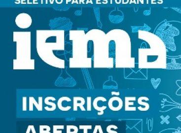 IEMA recebe inscrições para seletivo 2018 até a sexta-feira, dia 27