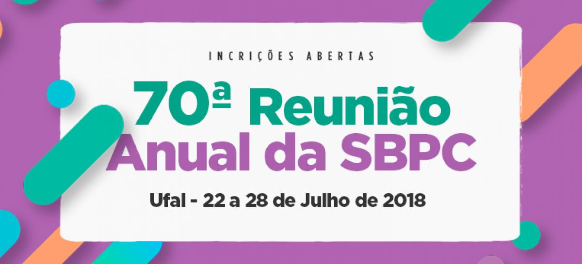 Inscreva-se para a 70ª Reunião Anual da SBPC