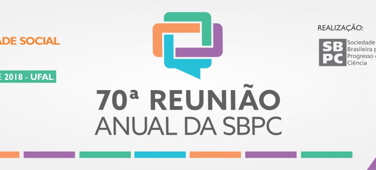 SBPC divulga programação preliminar da 70ª Reunião Anual