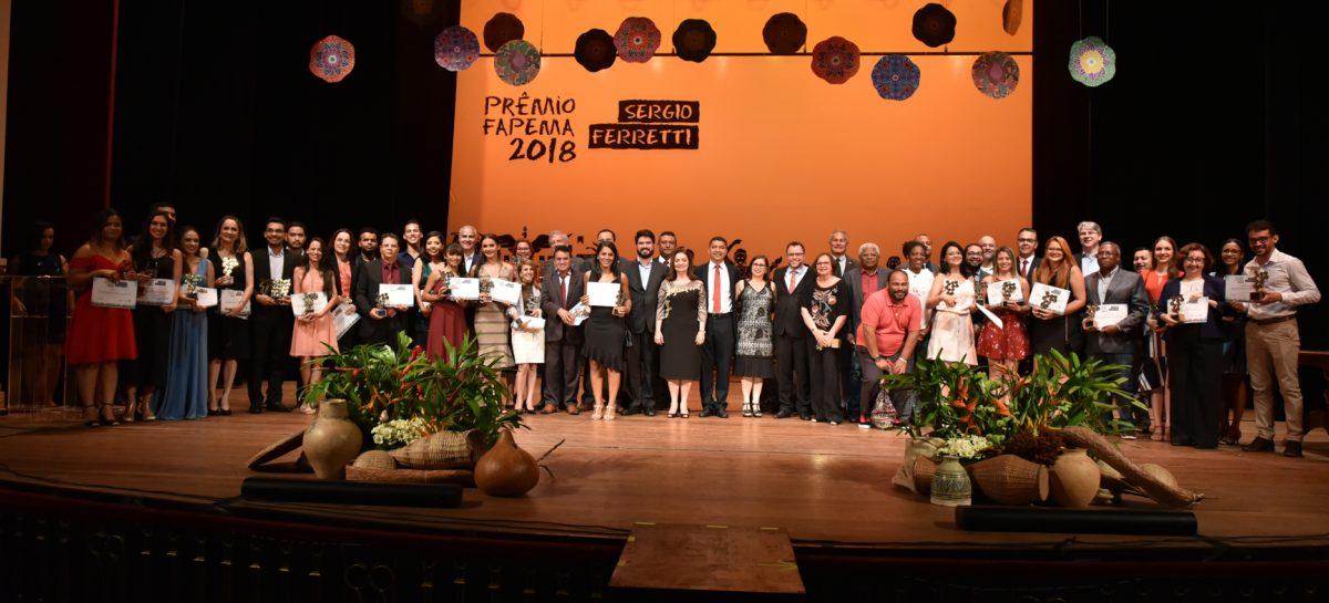 Pesquisadores maranhenses são homenageados em noite de entrega do Prêmio FAPEMA Sergio Ferretti 2018