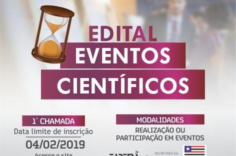Encerra na segunda-feira (04) as inscrições para o edital Apoio à Realização e Participação em Eventos Científicos
