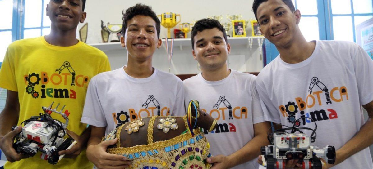 Criados no IEMA, robôs Bodes Fritos vão disputar torneio mundial na Coreia do Sul