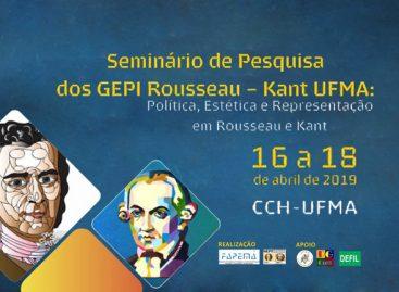 Seminário sobre Rousseau e Kant será realizado em abril com apoio da FAPEMA
