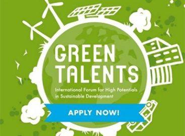 Prêmio Green Talents está com inscrições abertas