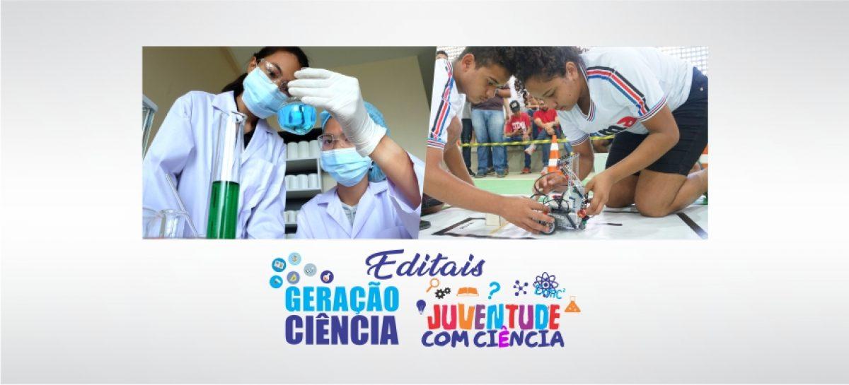 Editais Geração Ciência e Juventude com Ciência estimulam estudantes a produzir pesquisas