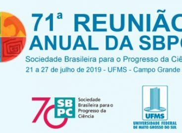 Confira a programação preliminar da 71ª Reunião Anual da SBPC