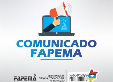 Horário de funcionamento da Fapema nesta quinta-feira, 05 de dezembro, será, excepcionalmente, até às 12h.