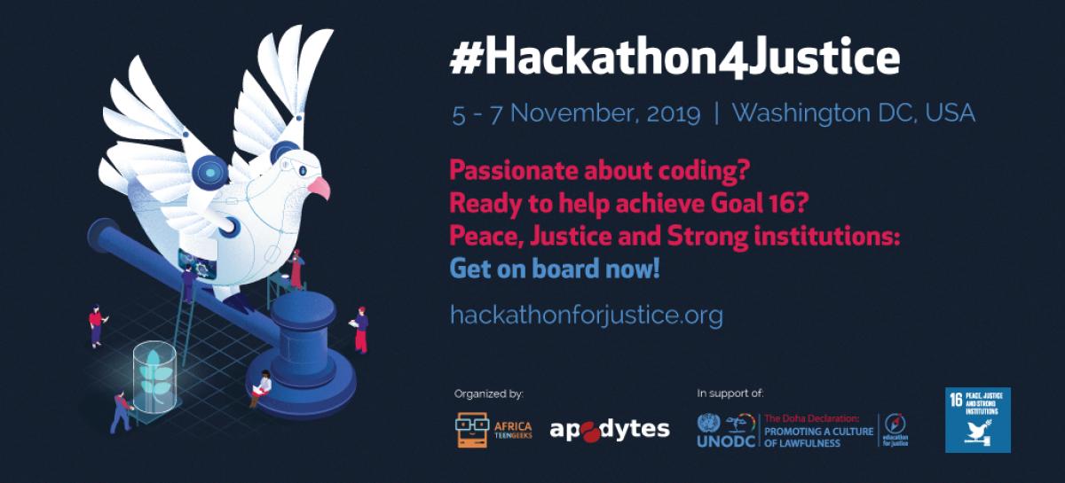 UNODC seleciona jovens para participar de 'Hackathon for Justice' nos EUA