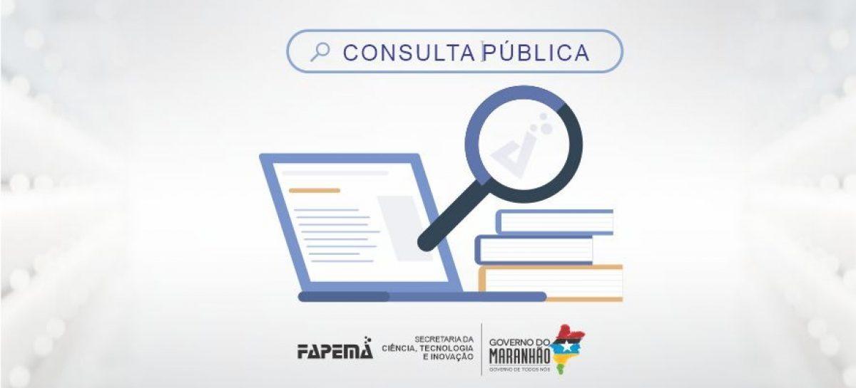 Fapema lança consulta sobre editais prioritários