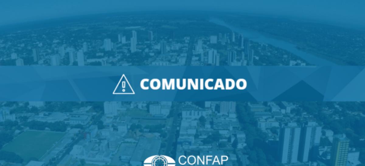 Comunicado – Adiamento do Fórum Nacional Confap (Foz do Iguaçu)
