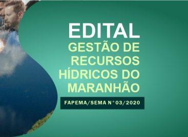 Encerram, nesta quarta-feira (13), as inscrições ao edital Gestão de Recursos Hídricos do Maranhão