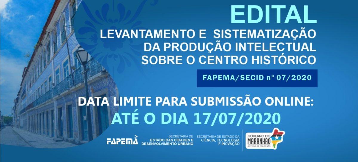 FAPEMA e SECID lançam edital para sistematizar a produção intelectual sobre o Centro Histórico