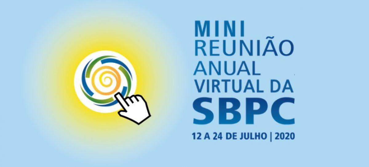 """Matrículas para os WEBMinicursos da """"Mini Reunião Anual Virtual da SBPC"""" se encerram dia 8 de julho"""