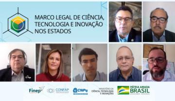 Confap e CNPq realizam webinar sobre o Marco Legal de Ciência, Tecnologia & Inovação nos Estados