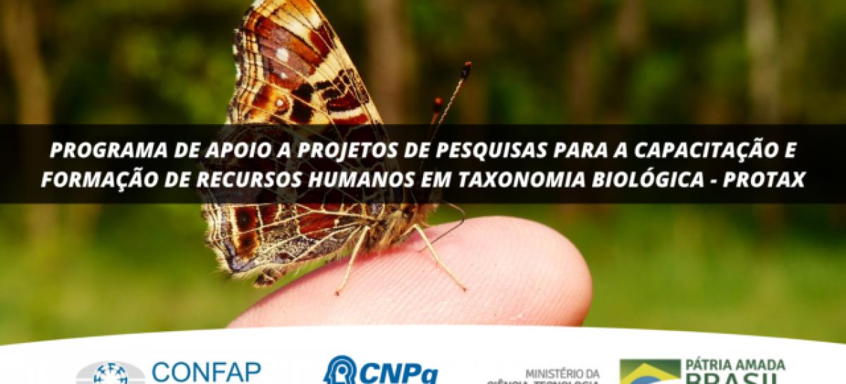CNPq, MCTI e Confap lançam Chamada PROTAX, para apoio e capacitação em taxonomia biológica