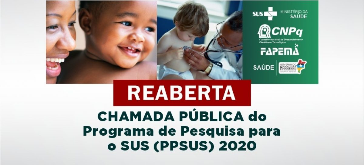 Edital PPSUS para financiamento de pesquisas na área de saúde segue com inscrições abertas até segunda-feira, 05
