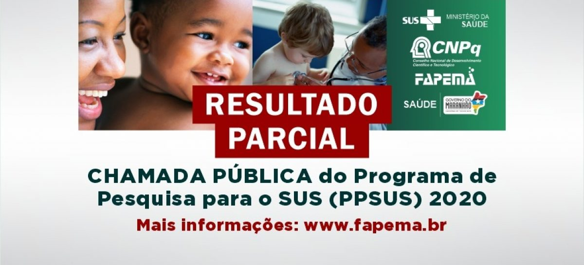 Divulgado resultado parcial do edital PPSUS – 2020