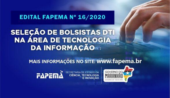 FAPEMA abre edital para seleção de bolsistas na área de Tecnologia da Informação