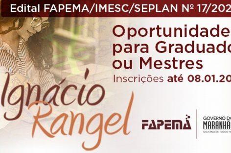 FAPEMA seleciona graduados e mestres para fortalecimento do planejamento e da gestão estadual e dos municípios