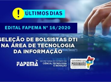 Encerra nesta sexta,08, o período de inscrição para o edital Seleção de Bolsistas na Área de Tecnologia da Informação