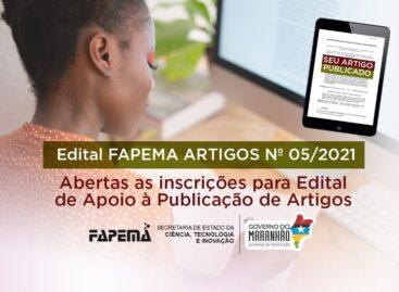 Inscrições abertas para o Edital de Publicação de Artigos da FAPEMA