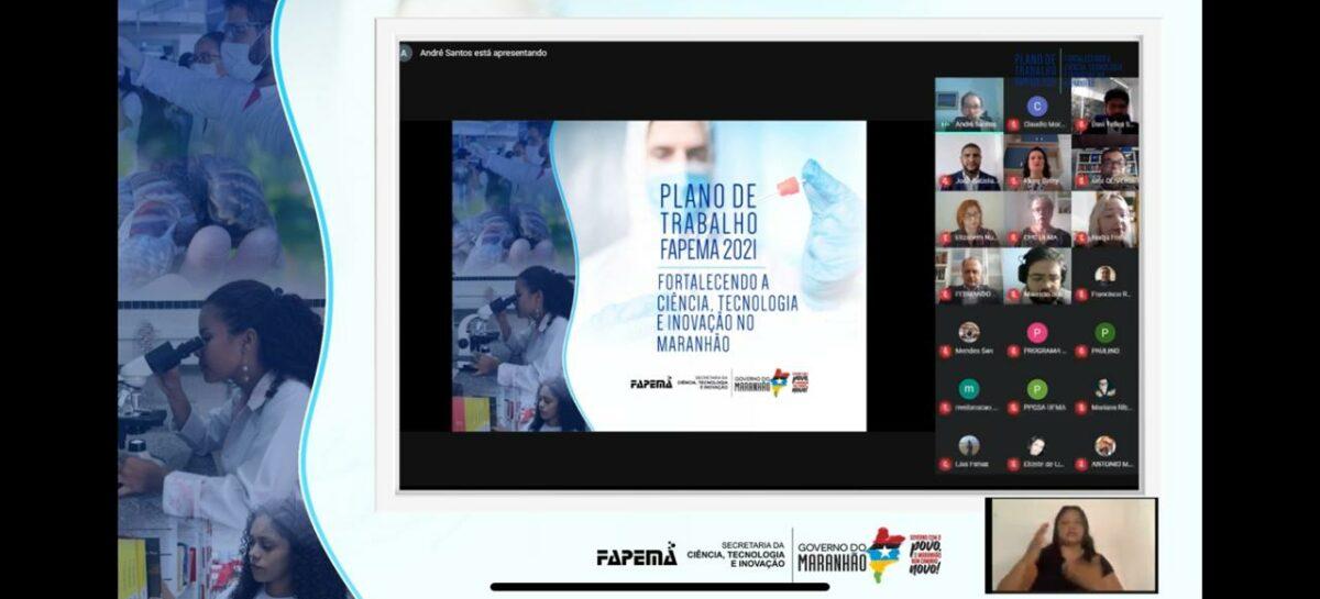 Plano de Trabalho 2021 da FAPEMA prevê investimentos de R$ 40 milhões