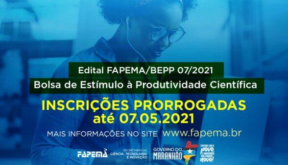 Prazo de inscrição do edital Estímulo a Produtividade Científica é prorrogado até sexta-feira (07)