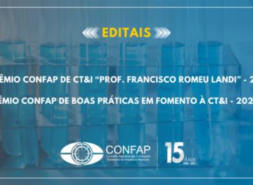 CONFAP lança editais para reconhecer e premiar pesquisadores(as), profissionais de comunicação e boas práticas de fomento à CT&I