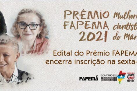 Inscrições para o Prêmio FAPEMA encerram nesta sexta-feira (27)